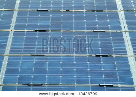 solar panels - perspective view