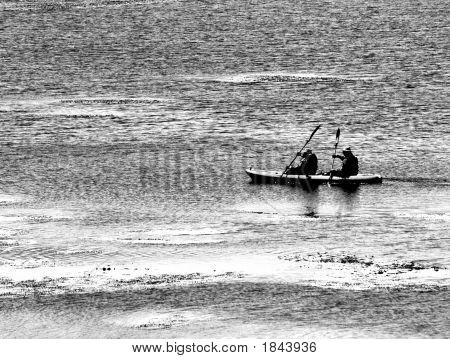Black And White Kayak