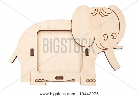Wooden Picture Frame In The Form Of Elephant