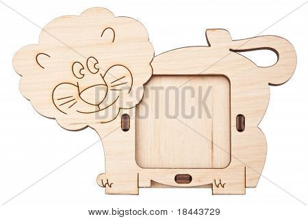 Wooden Picture Frame In The Form Of Lion