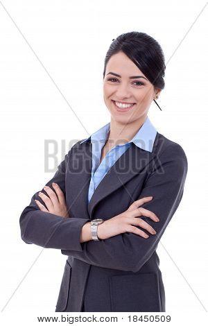 Mulher de negócios positivo
