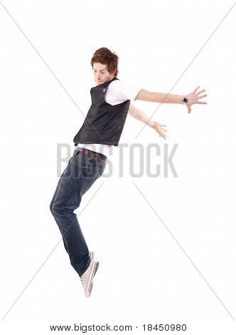 Young Stylish Dancer Making A Hip Hop Move
