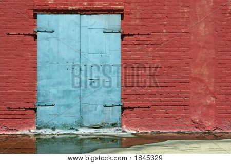 Blue Door And Red Brick