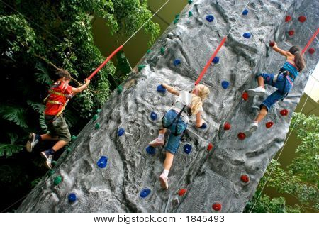 Rock Climbing In An Indoor Sports