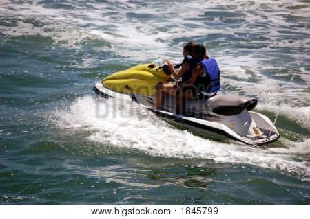 Two Gus On A Jet Ski