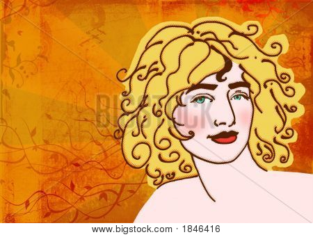 Blond Woman Illustration