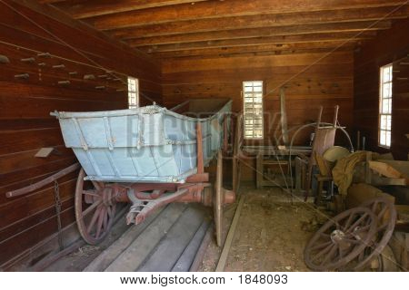 Wagon In The Garage