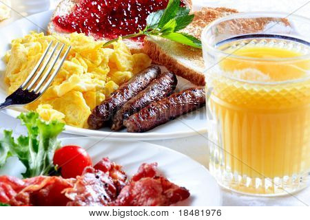 placa de desayuno