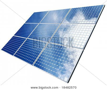 isolated solar panel
