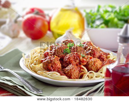 hearty spaghetti dinner