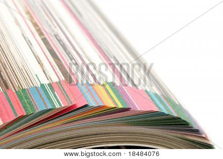 pages of catalog on white background