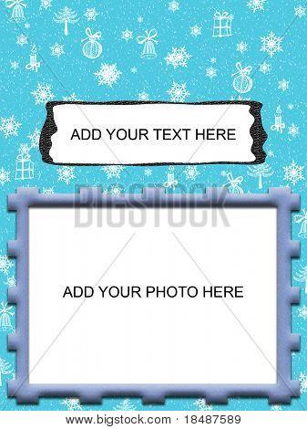 modern winter holdays greetings card