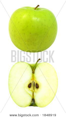 Fresh Apple With Cut