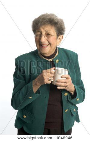 Woman With Coffee Tea