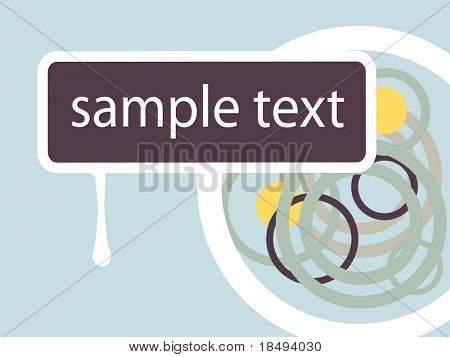 Vector sign for text purposes. Retro ring background.