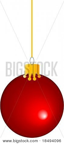 Red christmas ball vector. Re-sizable.