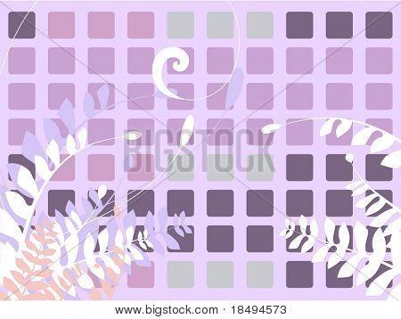 Vector floral Illustration mit Reben und Farnen. Leerzeichen für Ihren Text.