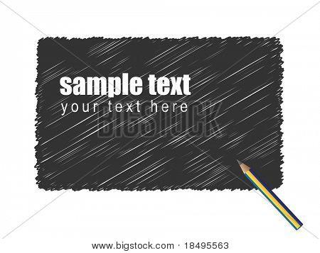 Vector - Garabato Grunge de un lápiz negro de fondo del texto.