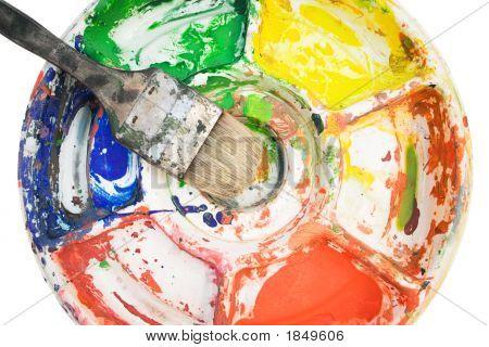 Paintbrush On Color Palette