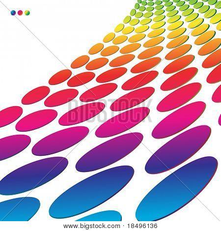 Raster - Colorful retro circles