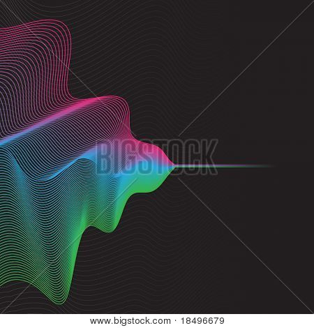Raster - Illustration of a colorful wave pattern grid lines for background use