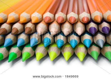 Layered Colored Pencils