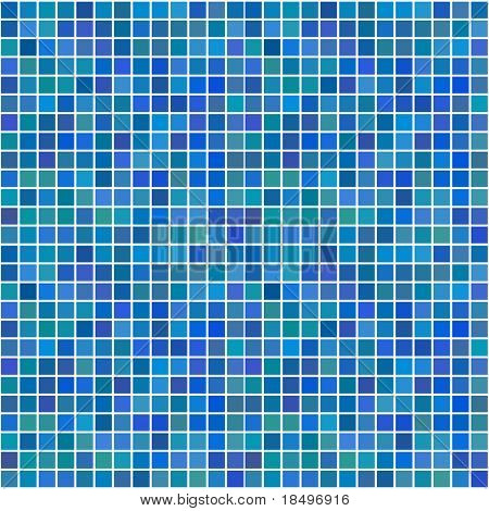 Raster - Illustration of a series of random blue seamless tiles with varying hue