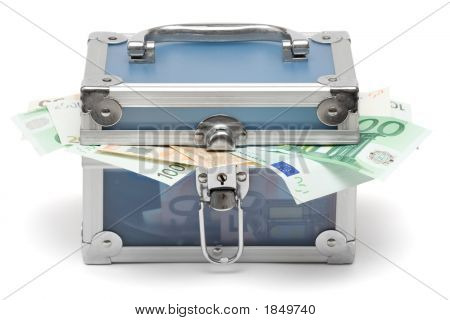 Closed Blue Money Chest