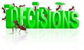 making decisions make choice choose direction yes or no decide initiative