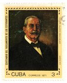 CUBA - CIRCA 1971: A stamp printed in CUBA shows paint by Anonimo