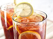 foto of iced-tea  - iced tea and lemon - JPG