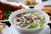 Vietnamese Restaurant Menu.delicious Pho Bo Soup poster