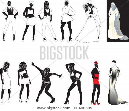 poses, vector