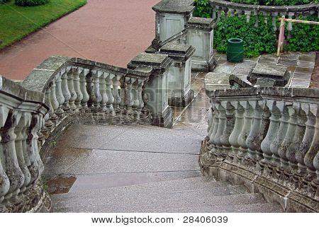 Escadas em Parque de Peterhof