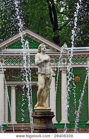 Fountain In Peterhof, St Petersburg
