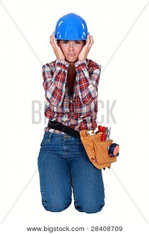 craftswoman sulking