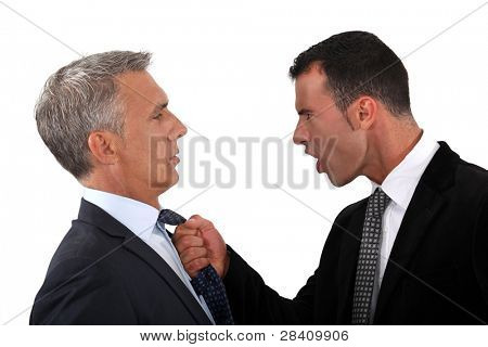 businessmen fighting