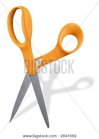 Scissors With Orange Handles