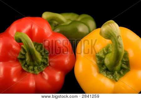 Red Yellow And Green Bell Peppers