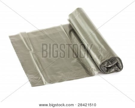 Roll Of Black Plastic Garbage Bags