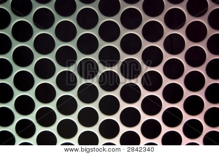 White Grid Circular Background - More In Portfolio