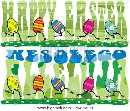 running easter eggs