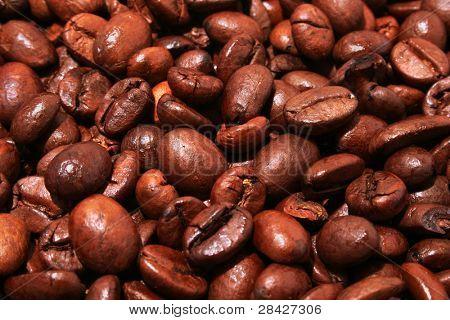 Fried coffee grain