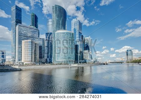 Moscow River On The Bank