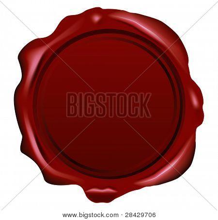 sello de cera de Vector