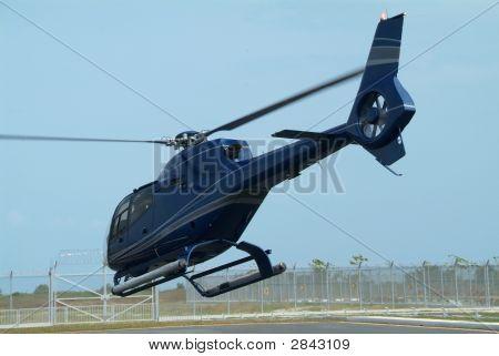 Dark Blue Helicopter
