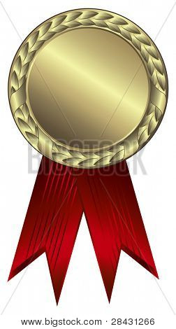 Gold award ribbons