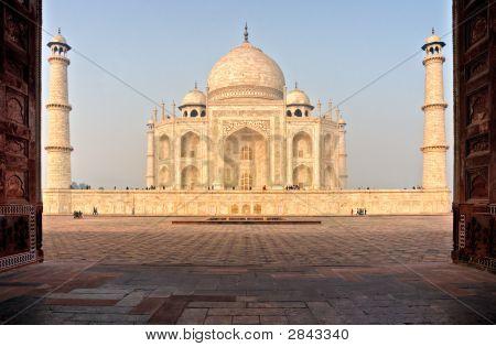 Taj Mahal At Dawn, Agra, India.