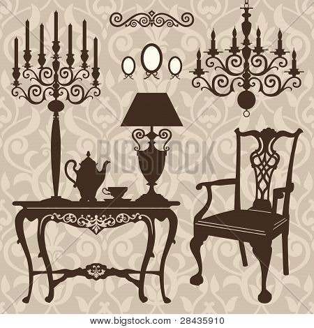 Set of antique furniture