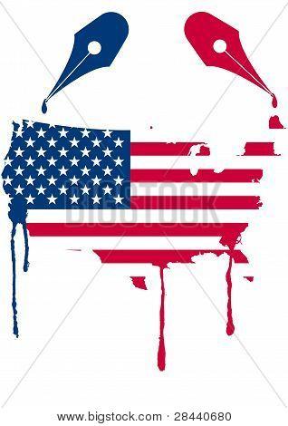 Usa Flag Nib